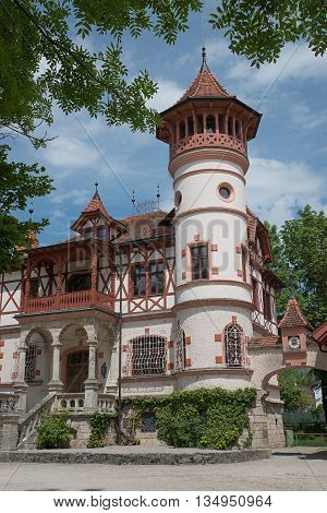 Historic Castle At Spa Garden Herrsching, Bavaria