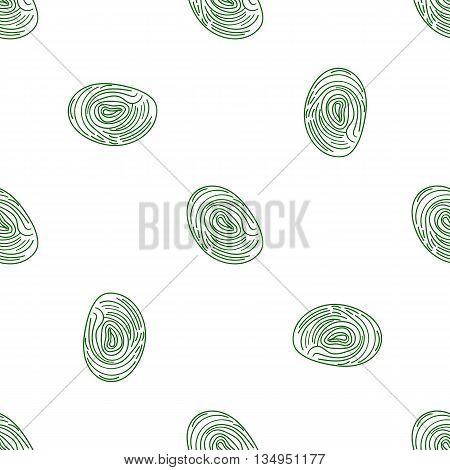 Pattern Fingerprints Dactyloscopy Vector Icon Of Human Finger Print