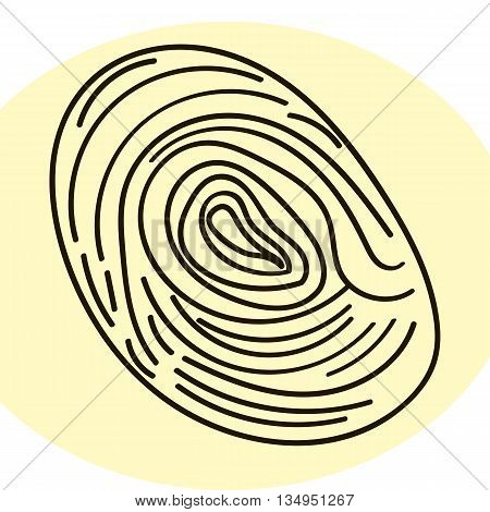 Fingerprint human. Personal identification. Stock vector image.