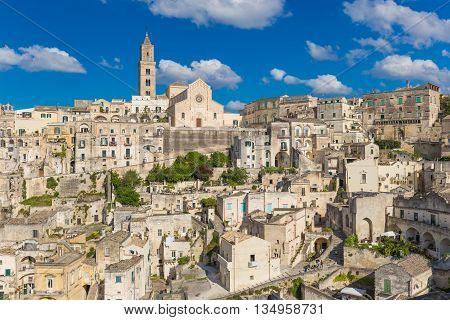 Beautiful Town Of Matera, Unesco Heritage, Basilicata Region, Italy