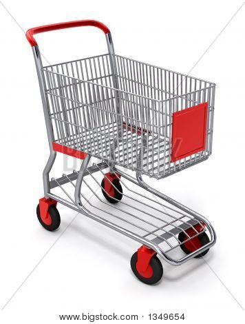 Shopping Cart 3D con Clipping Path