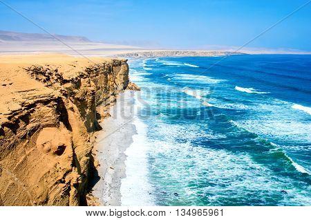 Landscape in Paracas National Park Reserve Pisco Peru