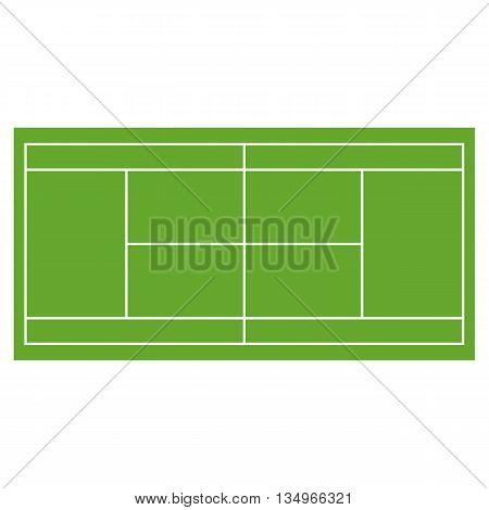 Tennis court grass field infographics app design horisontal set