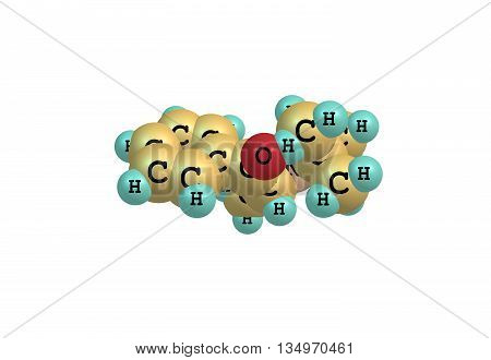 Bupropion is a drug primarily used as an antidepressant and smoking cessation aid. 3d illustration