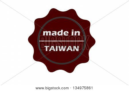 made in Taiwan red square vintage stamp.Taiwan stamp.Taiwan seal.Taiwan tag.Taiwan.Taiwan sign.Taiwan.
