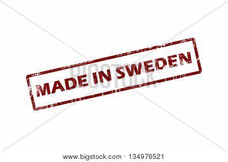 made in Sweden red square vintage stamp.Sweden stamp.Sweden seal.Sweden tag.Sweden.Sweden sign.Sweden.Sweden