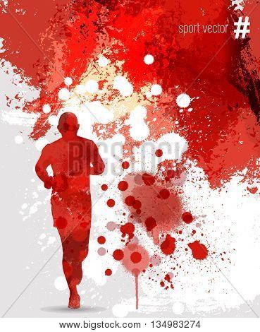 illustration of splashy runner silhouette