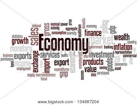 Economy, Word Cloud Concept