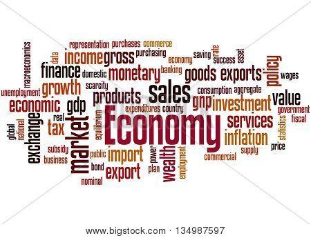 Economy, Word Cloud Concept 9