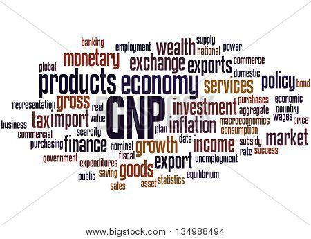 Gnp - Gross National Product, Word Cloud Concept 7