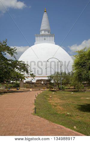 Dagoba Miriswatta, sunny day. Anuradhapura, Sri Lanka