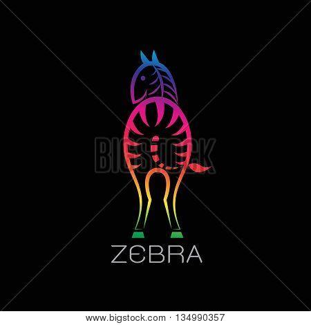Vector images of zebra on a black background. Zebra Logo Zebra Tattoo Zebra Icon Vector zebra for your design.