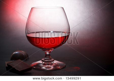 Luxury Red Liqueur And Milk Chocolate