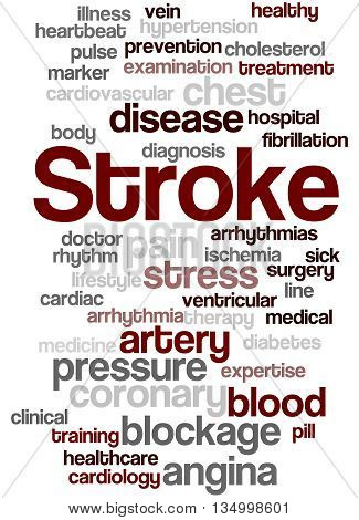 Stroke, Word Cloud Concept 9