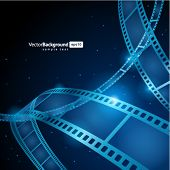 Film strip vector background poster