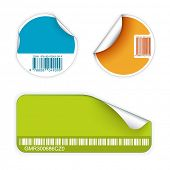 Set of fresh labels with bar codes(vivid colors) - see my portfolio for more labels poster