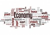 Economy word cloud concept on white background. poster