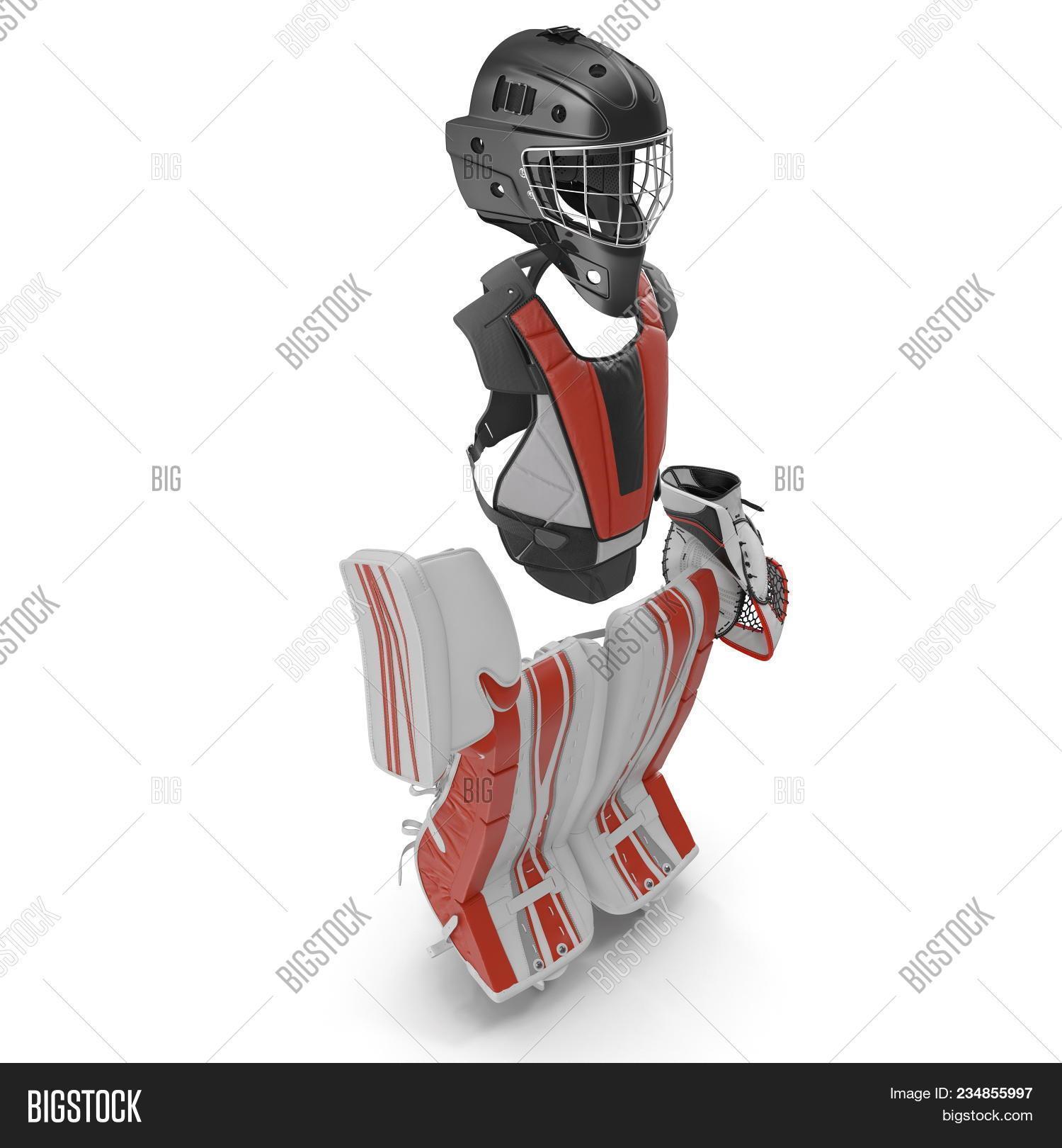 Hockey Goalie Image Photo Free Trial Bigstock