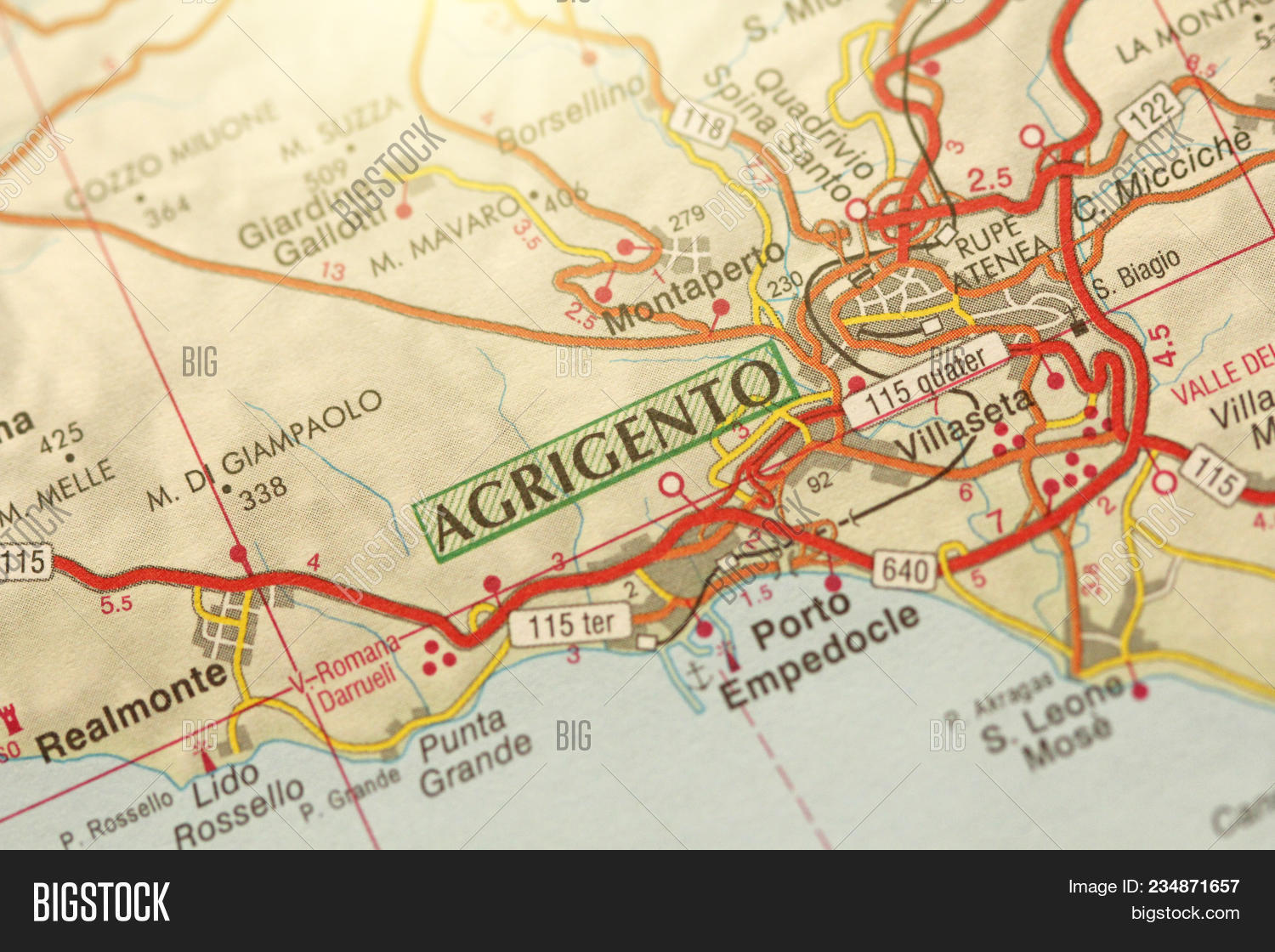 Agrigento Italy Map.Agrigento Island Image Photo Free Trial Bigstock