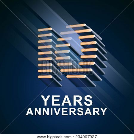 10 Years Anniversary Vector Icon, Logo. Graphic Design Element With Nonstandard Elegant Font For 10t