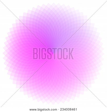 Pink Shades Color Wheel. Colorful Illustration. Isolated