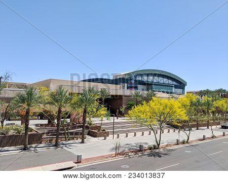 Phoenix, Az, Usa - March 30, 2018: Phoenix Convention Center South Building And Diamondbacks Basebal