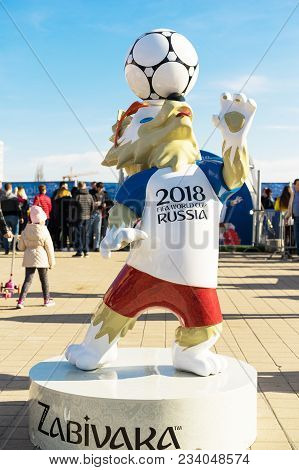 Rostov-on-don, Russia - 01 April, 2018 The Official Mascot Of The 2018 Fifa World Cup And The Fifa C