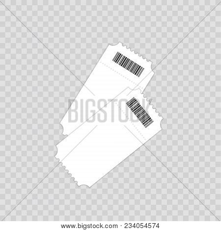 Ticket Template. Isolated On A Transparent Background. Vector Illustration