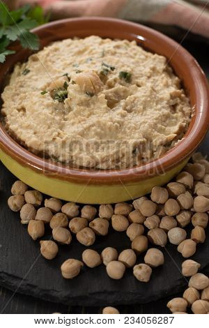 Hummus, Dip Of Spread, Everyday Meals In Israel Made From Chickpeas And Ingredients That, Following