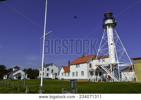Whitefish Point Lighthouse And Shipwreck Museum. Upper Michigan