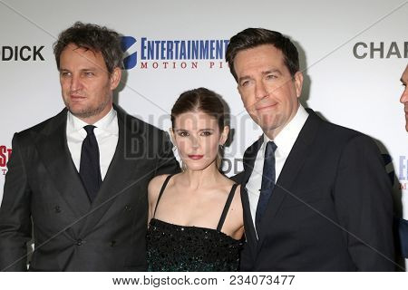 LOS ANGELES - MAR 28:  Jason Clarke, Kate Mara, Ed Helms at the