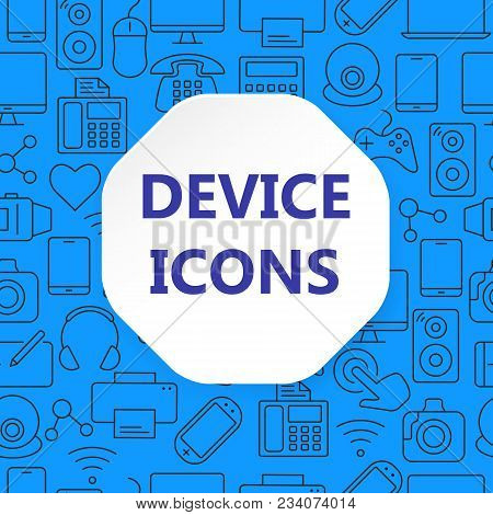 Device Outline Icons Vector Photo Free Trial Bigstock