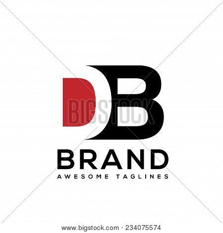 Creative Letter Db Logo Design Black And White Logo Elements. Simple Letter Db Letter Logo,business