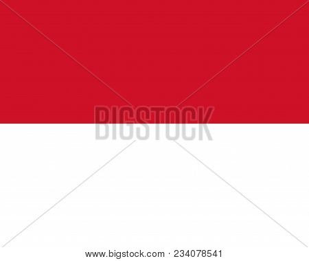 Flag Of Monaco Official Colors And Proportions, Vector Image