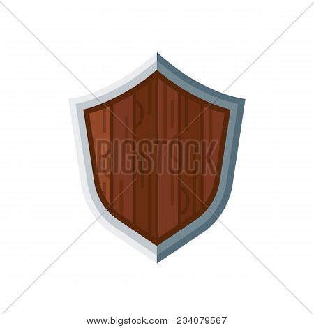 Metal Shield, Sign Of Protection, Security, Guarantees Of Immunity In Judicial System. Protection Fr