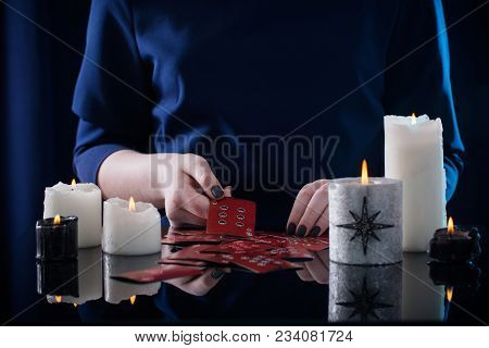 The Divination With Cards And The  Candles