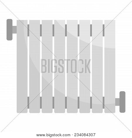Central Heater Icon. Flat Illustration Of Central Heater Vector Icon For Web
