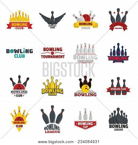 Bowling Kegling Game Icons Set. Realistic Illustration Of 16 Bowling Kegling Game Vector Icons For W