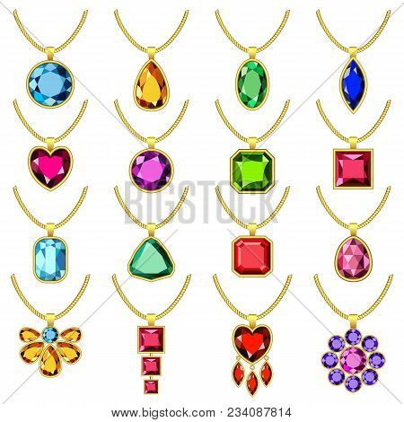 Necklace Jewelry Vector & Photo (Free Trial) | Bigstock