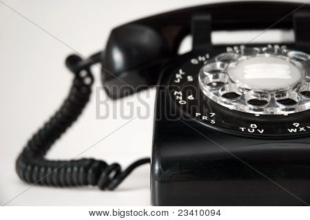 Rotary Dial Black Telephone 1950's