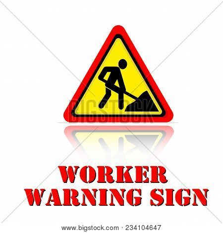 Yellow Warning Worker Warning Sigh Icon Background Vector Image