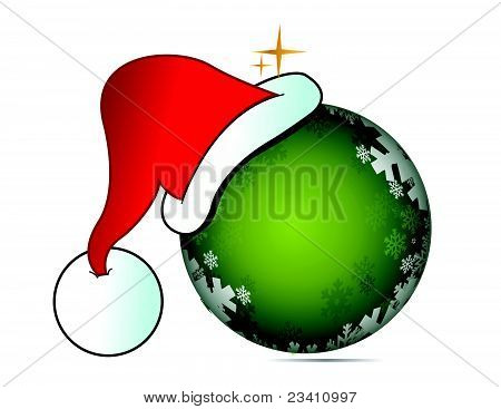 Santa Claus hat with ball illustration