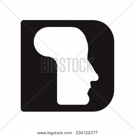 English Font Upper Case Letter D D Logo Logotype - Human Faces Of Cyborg Robots, For Computer Theme,