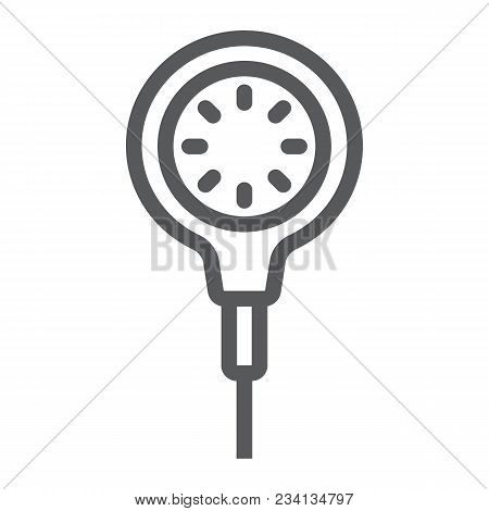 Scuba Diving Gauge Line Icon, Diving And Underwater, Measure Sign Vector Graphics, A Linear Pattern