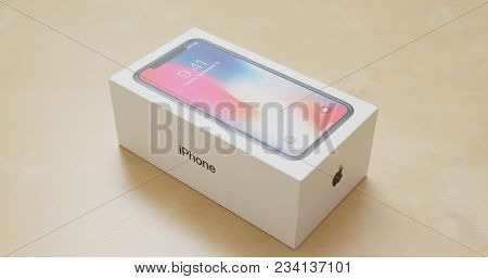 Hong Kong, Hong Kong, 01 March 2018:- Open the box of iphoneX