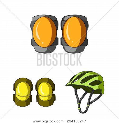Bicycle Outfit Cartoon Icons In Set Collection For Design. Bicycle And Tool Vector Symbol Stock  Ill