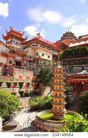Buddhist temple Kek Lok Si  (The Temple of Supreme Bliss), Georgetown, Penang island, Malaysia