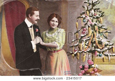 Vintage German Christmas Postcard