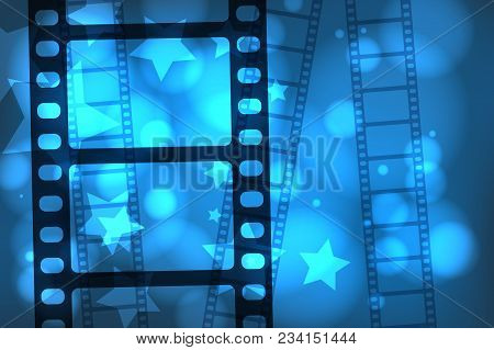 Abstract Background With A Celluloid Movie Film. Eps10 Vector.