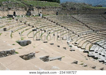 Northern Greece - July 25: A Historic Theater From First Century Philippi July 25, 2017. The Theater